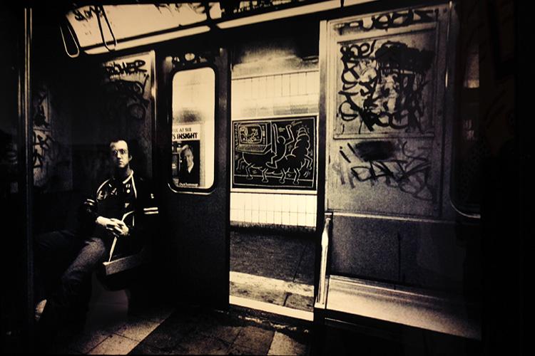 Keith Haring on Subway 750